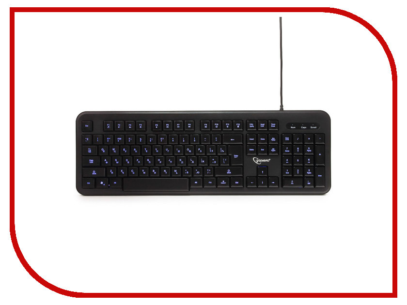 Клавиатура Gembird KB-200L Black