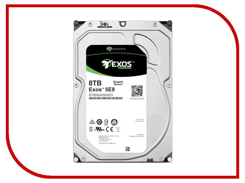внутренние HDD/SSD ST8000AS0003  Жесткий диск 8Tb - Seagate Exos 5E8 ST8000AS0003