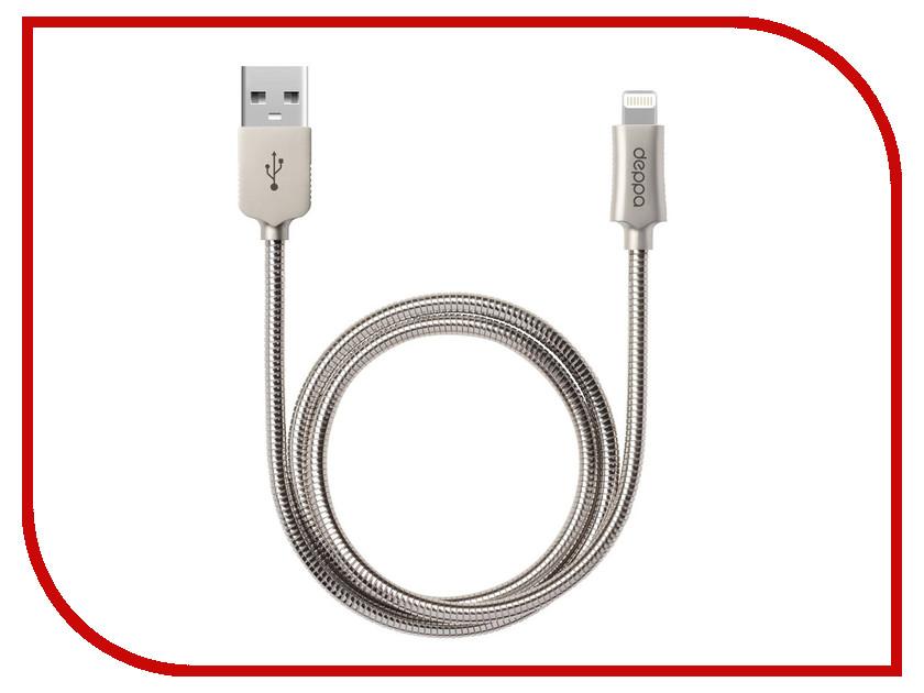 Аксессуар Deppa USB - Lightning 1.2m MFI Metal Steel 72272 кабели dotfes кабель mfi lightning usb