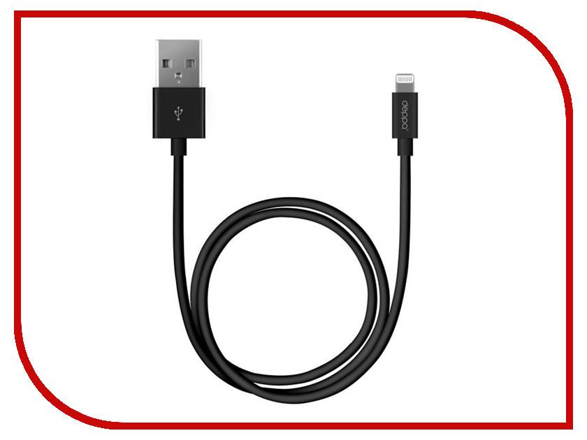 Аксессуар Deppa USB - Lightning 1.2m MFI Black 72127 кабели dotfes кабель mfi lightning usb