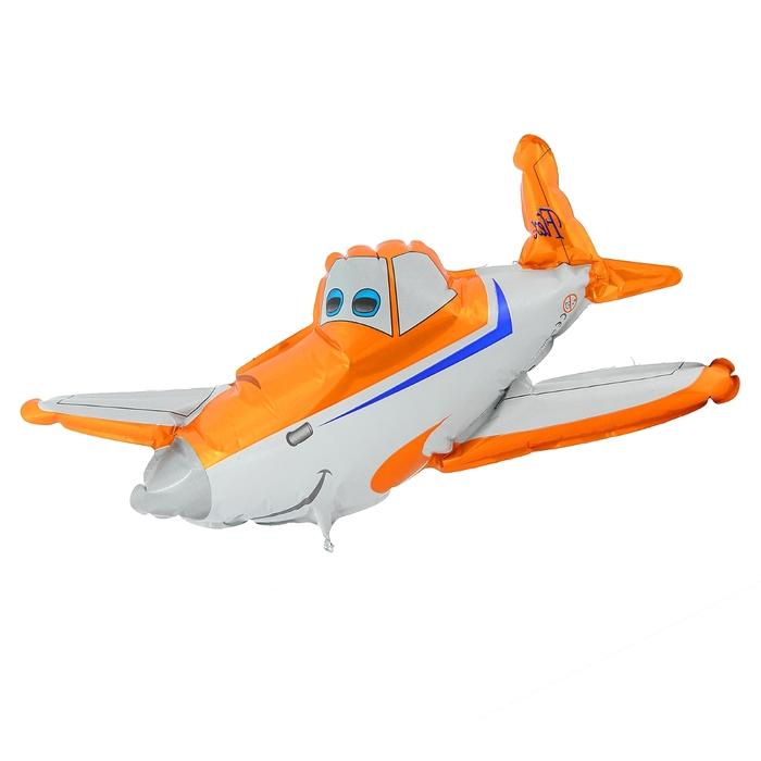 Шар фольгированный Flexmetal Самолёт Orange 1230052