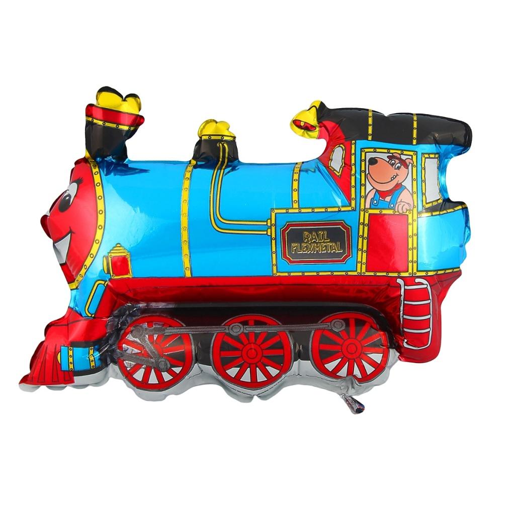 Шар фольгированный Flexmetal Поезд Blue 1230041