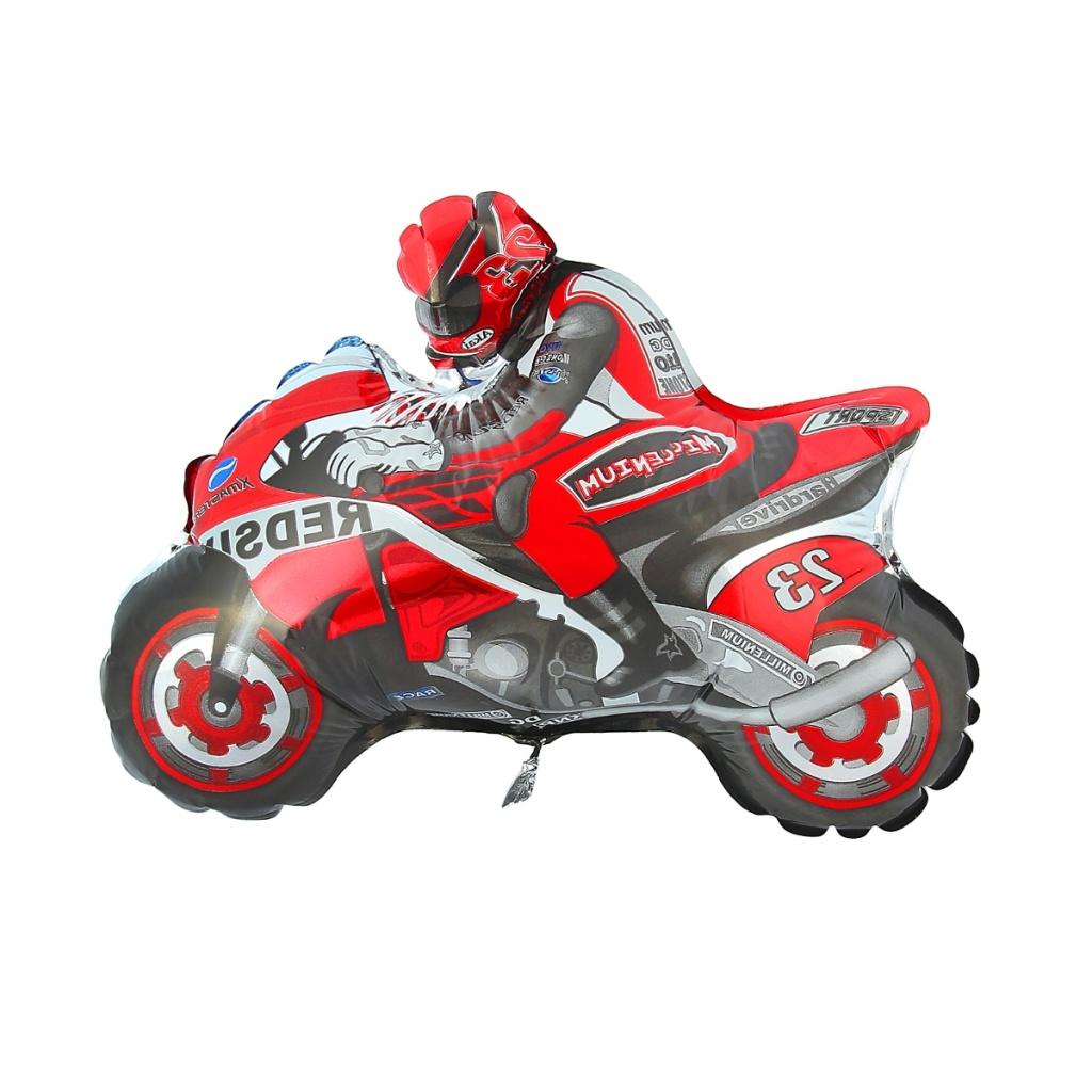 Шар фольгированный Flexmetal Мотоциклист Red 1230033