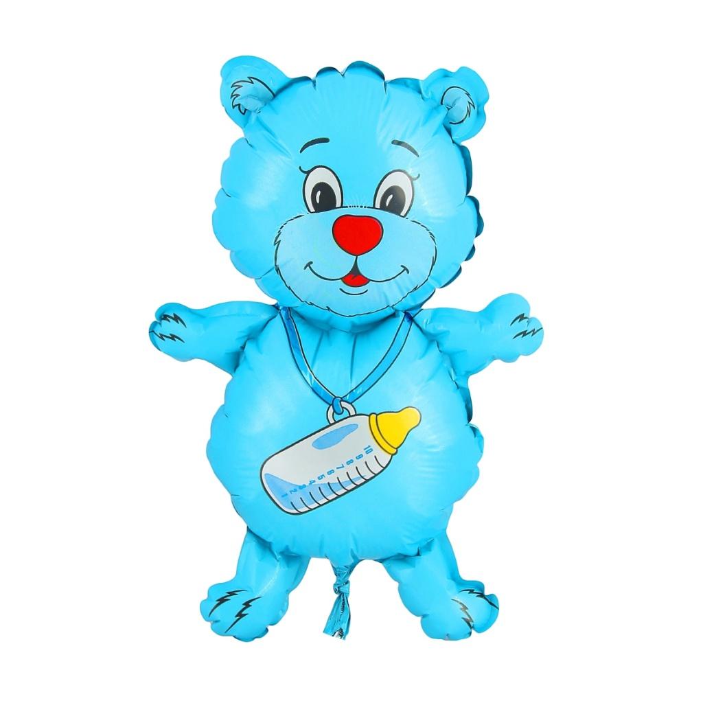 Шар фольгированный Flexmetal Медвежонок-мальчик 1230030