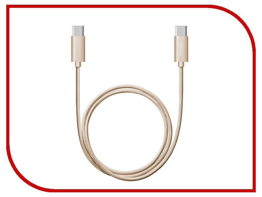 Аксессуар Deppa USB Type-C 3A 1.2m Alum Gold 72247 forum 3 alum
