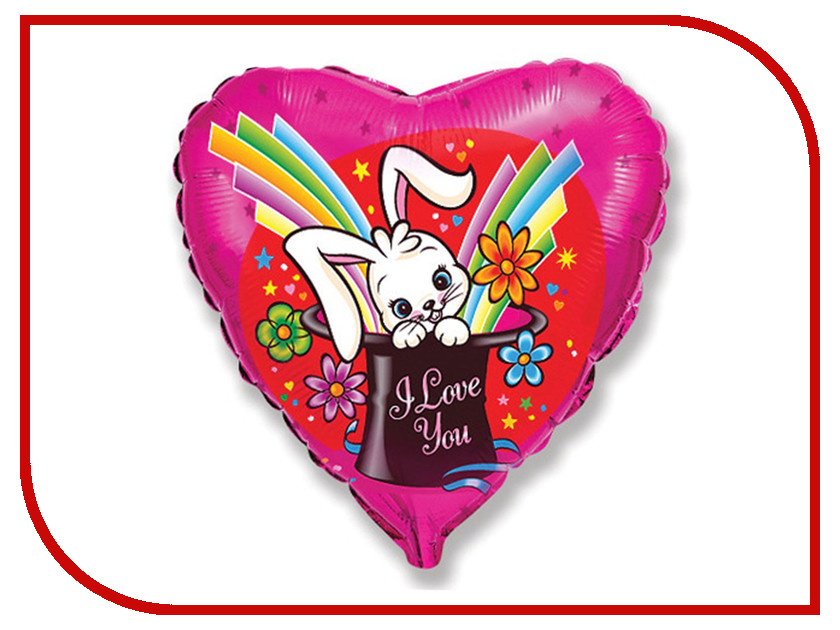 Шар фольгированный Flexmetal I Love You Заяц волшебник 1260845 me to you i love you this much