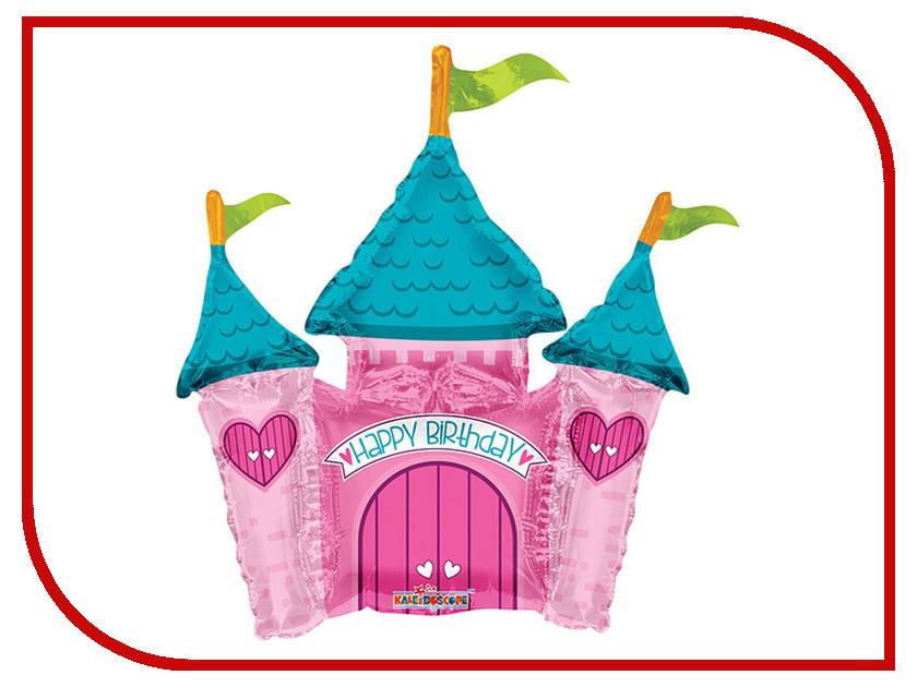 Шар фольгированный Conver С Днем рождения Замок прицессы 2873191 с днем рождения иллюстр