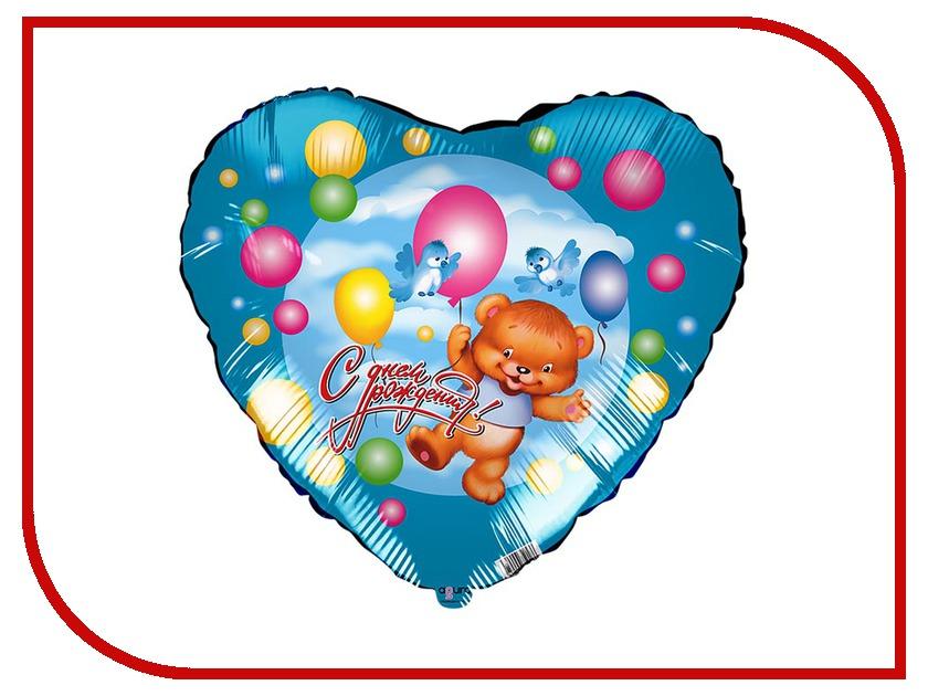 Шар фольгированный Agura Медведь на шаре 2952572