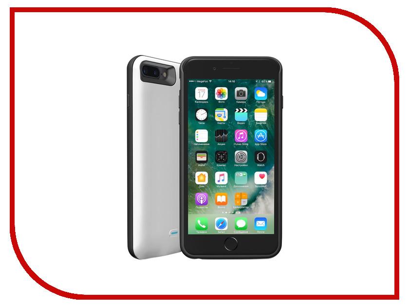 Аксессуар Чехол-аккумулятор Deppa NRG Case для APPLE iPhone 7 Plus 3800mAh White 33522