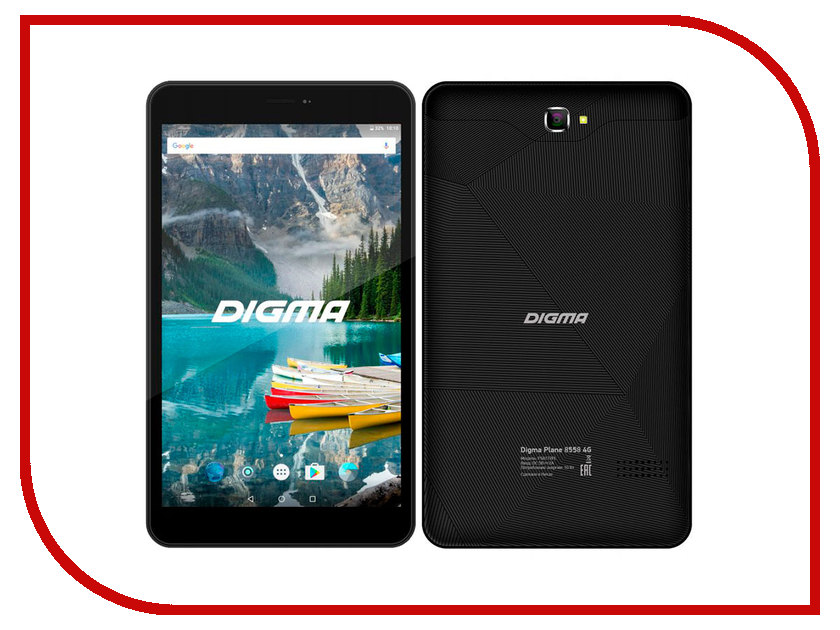 Планшет Digma Plane 8558 4G Graphite (Spreadtrum SC9832 1.5 GHz/1024Mb/16Gb/LTE/GPS/Wi-Fi/Bluetooth/Cam/8.0/1280x800/Android) планшет prestigio grace pmt3201 4g mediatek mt8735 1 0 ghz 2048mb 16gb gps lte wi fi bluetooth cam 10 1 1280x800 android