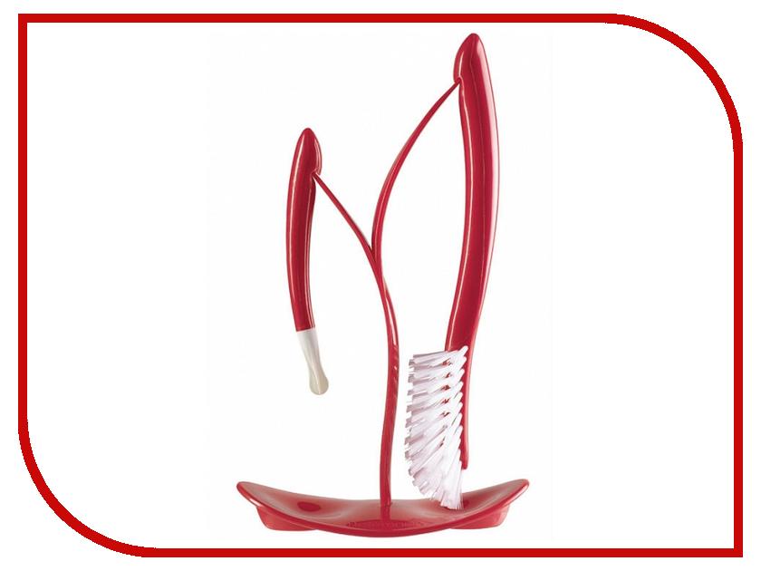 Щетки для мытья бутылочек AngelCare Bottles Brushes And Drying Stand Cherry 500132-E