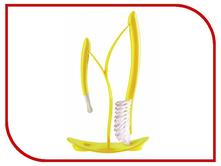 Щетки для мытья бутылочек AngelCare Bottles Brushes And Drying Stand Lime 500135-E