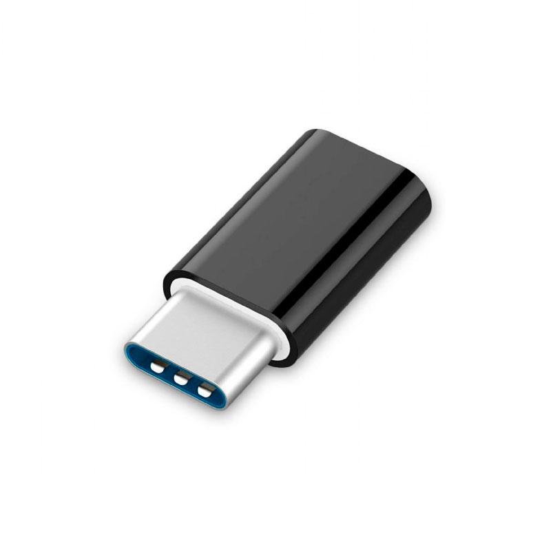 Аксессуар Gembird Cablexpert microUSB - Type-C Black A-USB2-CMmF-01