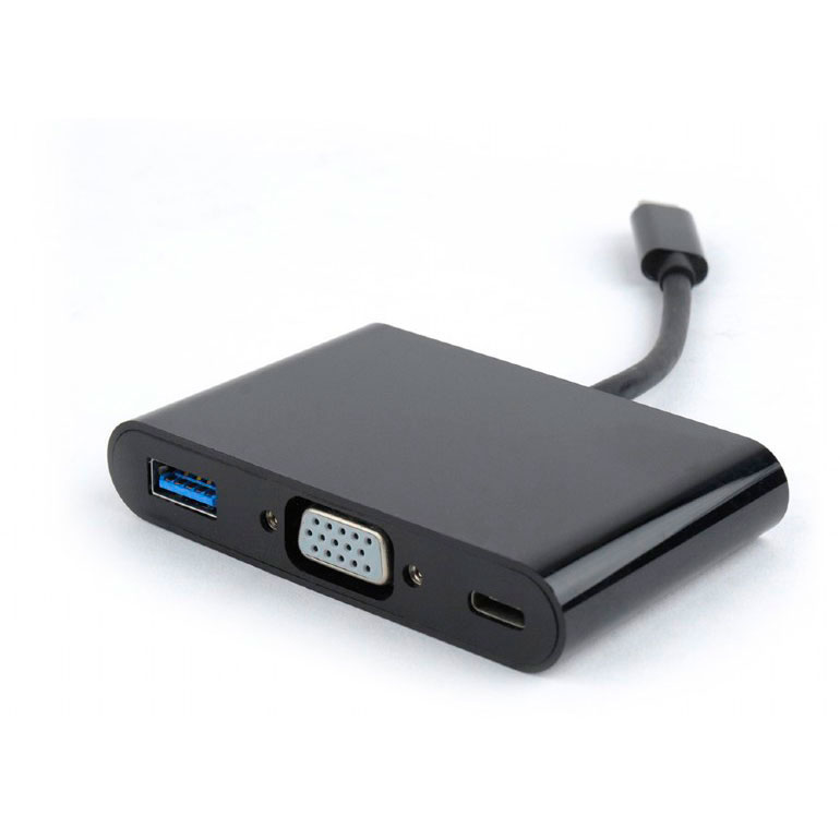 Адаптер Gembird Cablexpert 3 in 1 USB-C to VGA + USB3 A-CM-VGA3in1-01