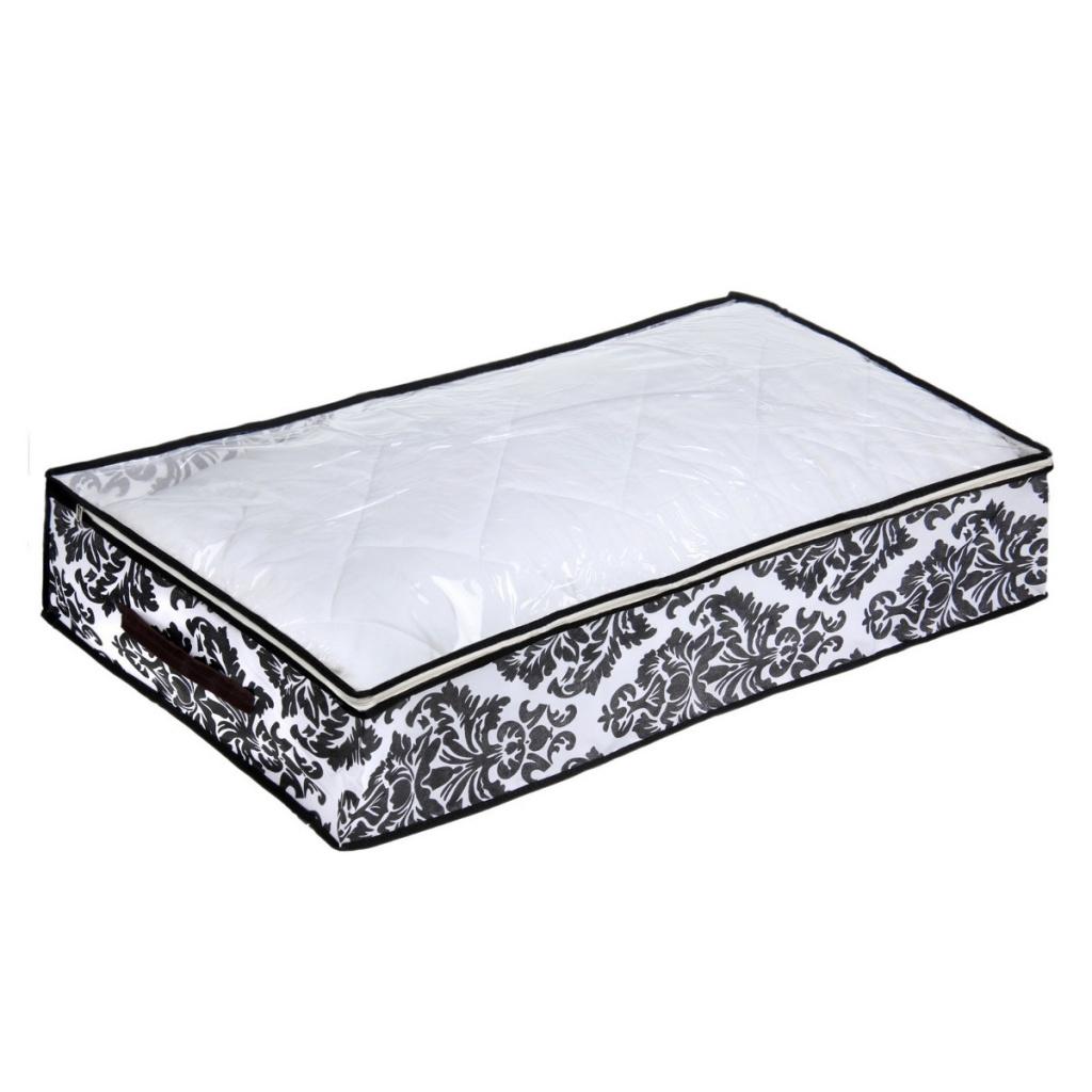 Кофр для хранения вещей Доляна Вензель 80x45x15cm White-Black 1159133