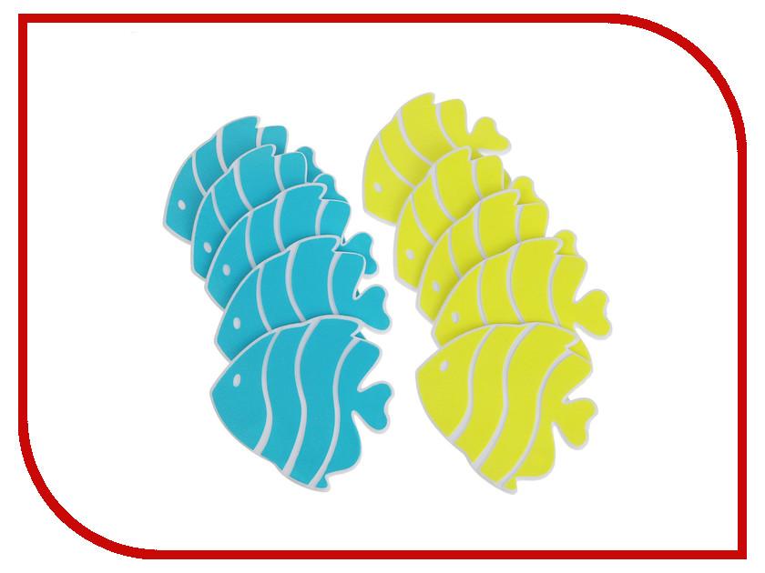 Набор мини-ковриков для ванны Доляна Рыбка-бабочка 5 шт 2364693