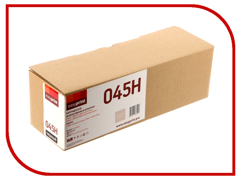 Картридж EasyPrint LC-045H Black для Canon i-SENSYS LBP611Cn/613Cdw/MF631Cn/633/635Cx картридж easyprint lc 045h m для canon i sensys lbp611cn 613cdw mf631cn 633cdw 635cx 2200 стр пурпурный с чипом