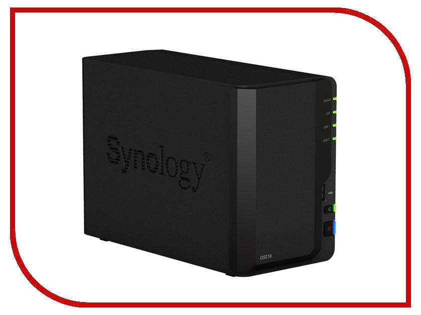 Сетевое хранилище Synology DS218 сетевое хранилище synology ds1517 5x2 5 3 5