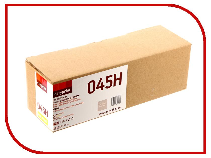 Картридж EasyPrint LC-045H Yellow для Canon i-SENSYS LBP611Cn/613Cdw/MF631Cn/633Cdw/635Cx картридж easyprint lc 045h m для canon i sensys lbp611cn 613cdw mf631cn 633cdw 635cx 2200 стр пурпурный с чипом