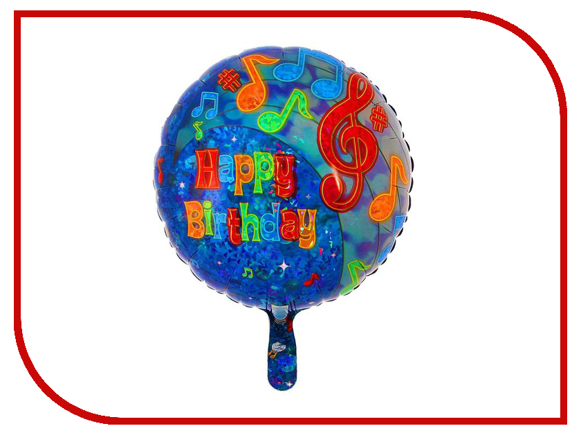 Шар фольгированный Anagram Happy Birthday Вечеринка музыкальная 1352150 action шар фольгированный happy birthday