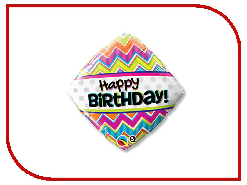 Шар фольгированный Qualatex С днем рождения 2872751 с днем рождения иллюстр