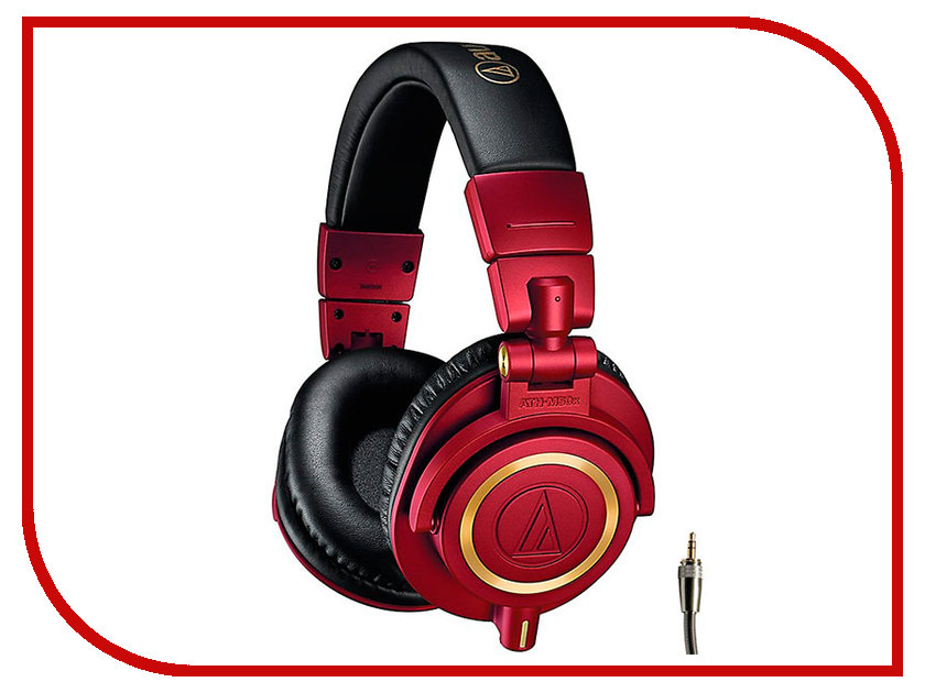Audio-Technica ATH-M50X Red Limited Edition охватывающие наушники audio technica ath m50x red