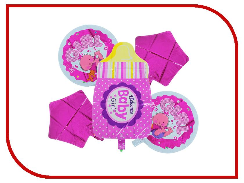 Букет из шаров СИМА-ЛЕНД Бутылочка Pink 2796560