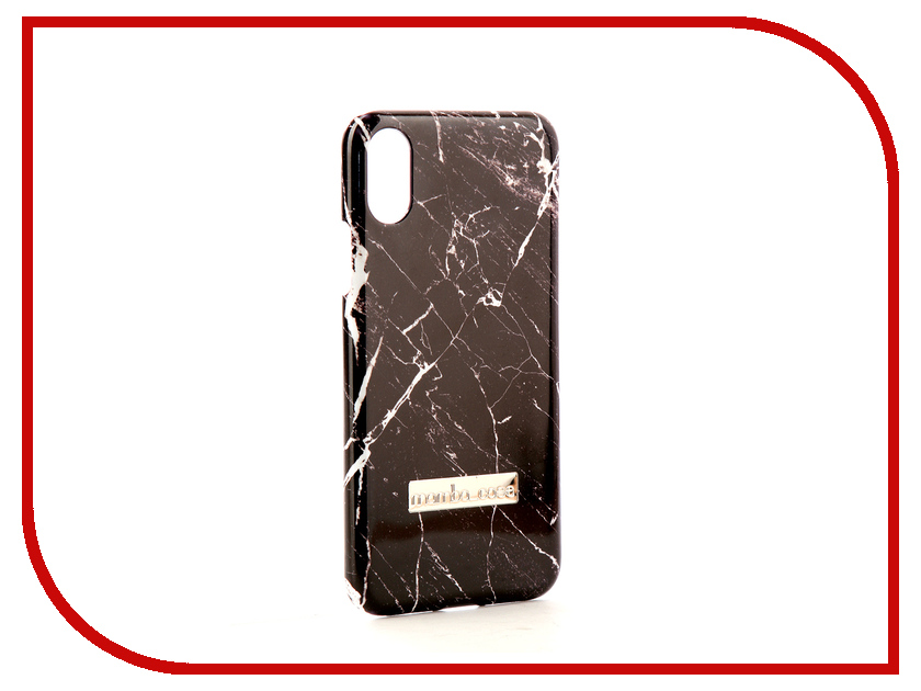 Аксессуар Чехол Mamba Case Black Marble для APPLE iPhone X аксессуар чехол apple iphone x leather case black mqtd2zm a