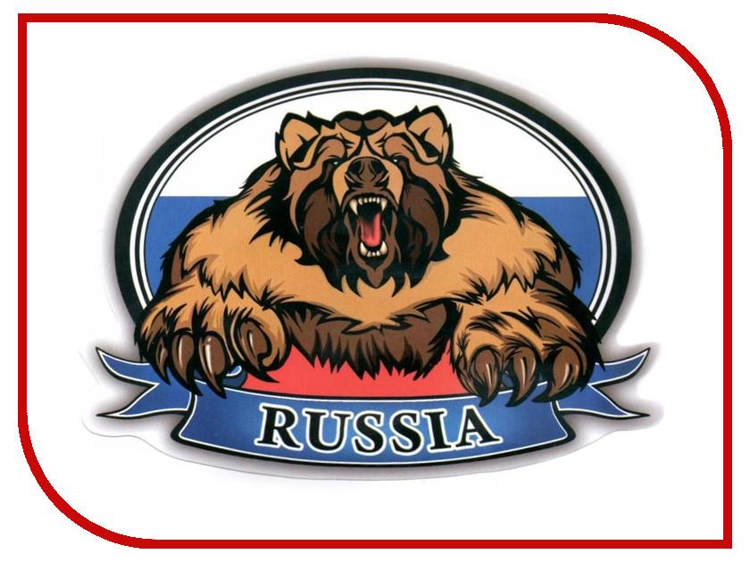 Наклейка на авто Mashinokom РУС Флаг Медведь 10х14см VRC 250-09 авто за 250 тыс
