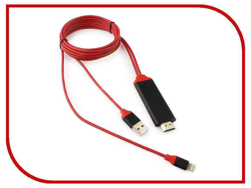 Аксессуар Gembird Cablexpert Lightning/HDMI+USB для iPhone/iPad CC-LMHL-01 аксессуар кабель usb gembird для iphone ipod ipad 1m cc usb ap1mw white