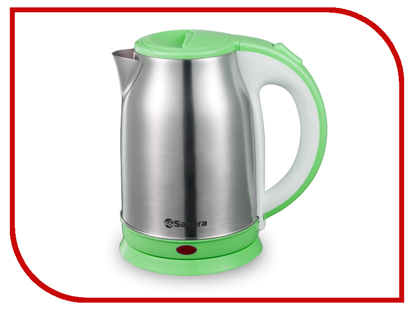 Чайник Sakura SA-2147G 1.8L Steel-Green термопот sakura sa 334rs steel red