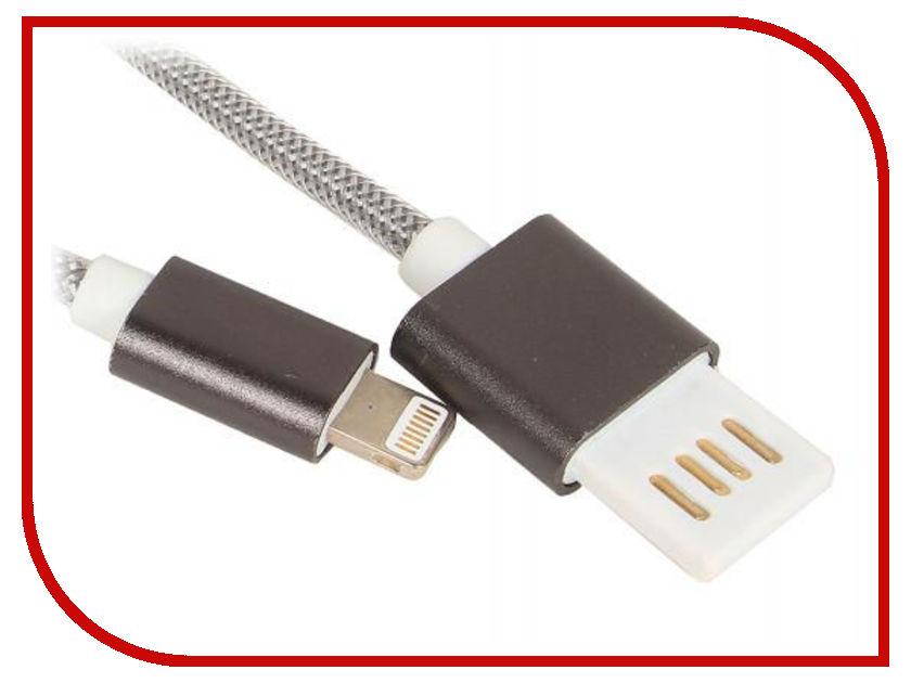Аксессуар Gembird Cablexpert USB 2.0 AM/Lightning 8P 1m Dark-Grey CCB-ApUSBgy1m защитная плёнка для explay craft глянцевая explay