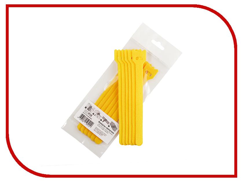 Хомуты-липучки Comfix 150x12mm 6шт Yellow HLCT-150-RP00060