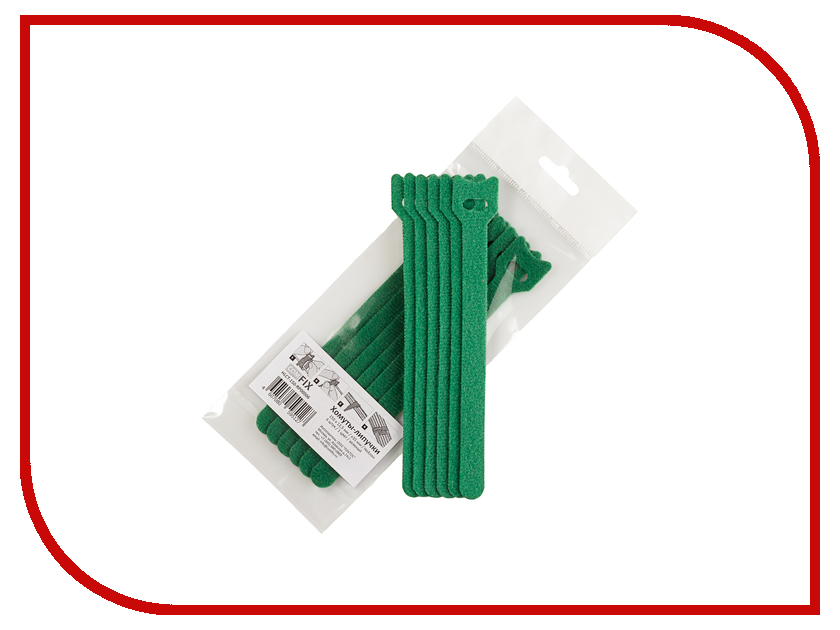 Хомуты-липучки Comfix 150x12mm 6шт Green HLCT-150-RP00006