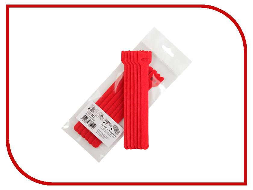 Хомуты-липучки Comfix 150x12mm 6шт Red HLCT-150-RP00600