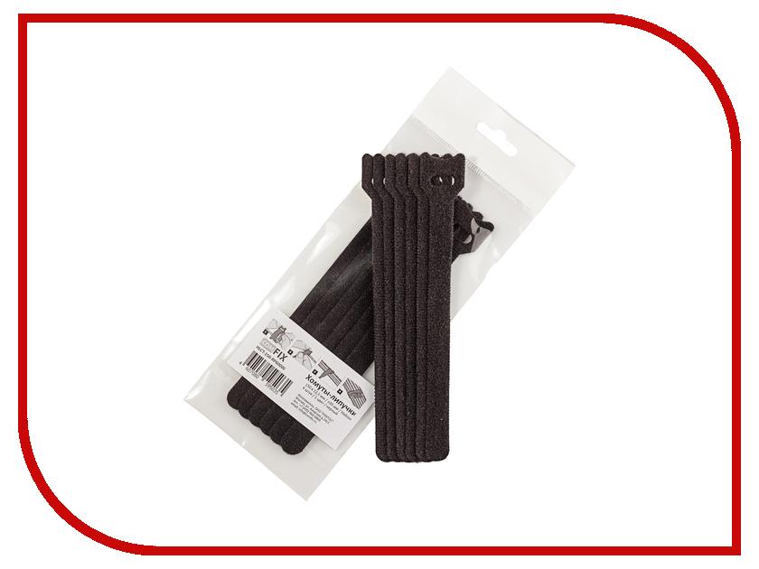 Хомуты-липучки Comfix 150x12mm 6шт Black HLCT-150-RP60000