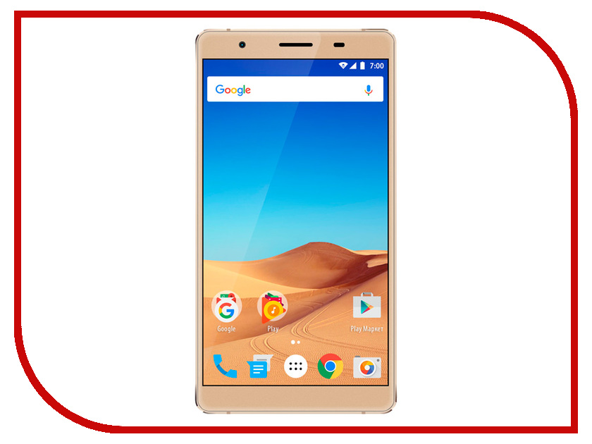 Сотовый телефон Vertex Impress Ra LTE Gold сотовый телефон lg k100ds k3 lte black blue