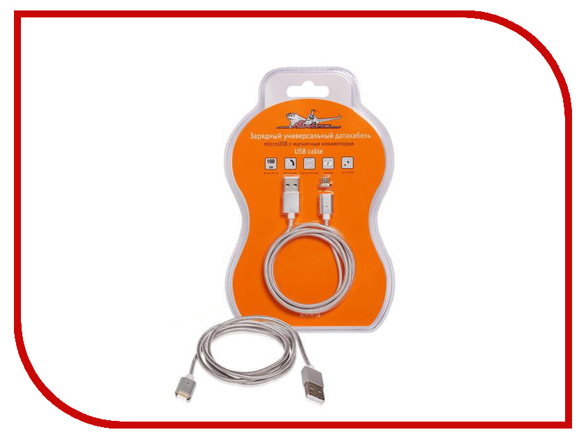 Аксессуар Airline USB - Lightning 1m ACH-I6M-17 с магнитным коннектором airline ao bs 02
