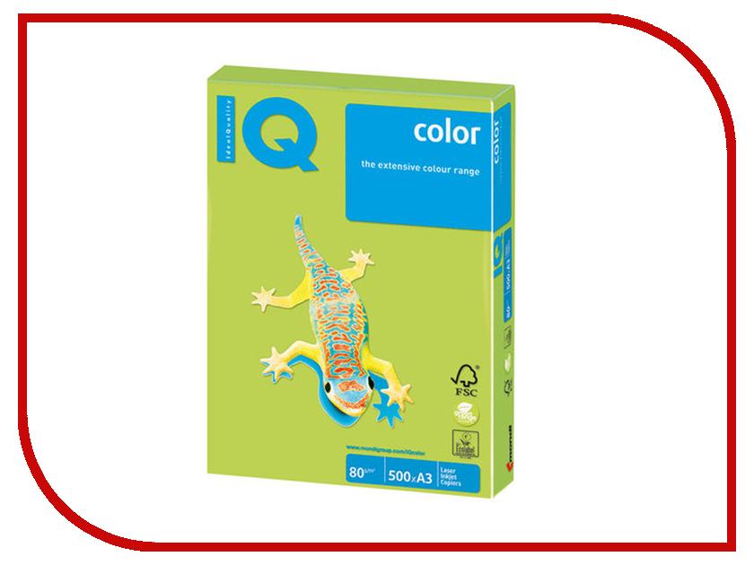 Бумага IQ Color A3 80g/m2 500 листов Linden Green LG46 110766