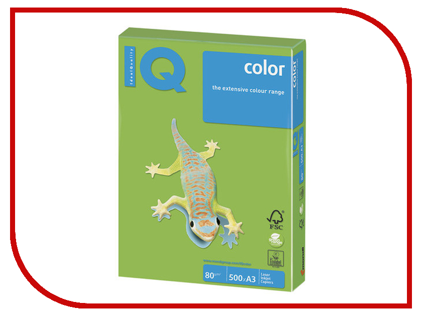 Бумага IQ Color A3 80g/m2 500 листов Green MA42 110681