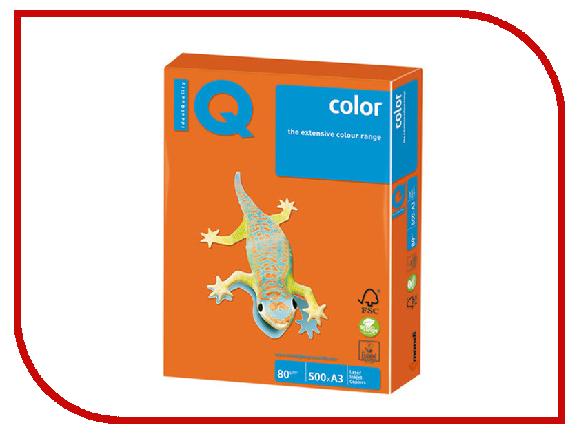 Бумага IQ Color A3 80g/m2 500 листов Orandge OR43 110764