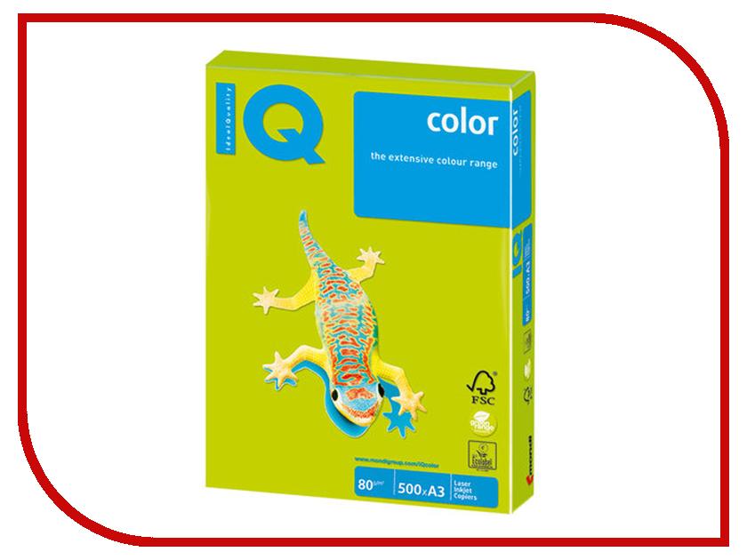 Бумага IQ Color A3 80g/m2 500 листов Neon Green NEOGN 110783