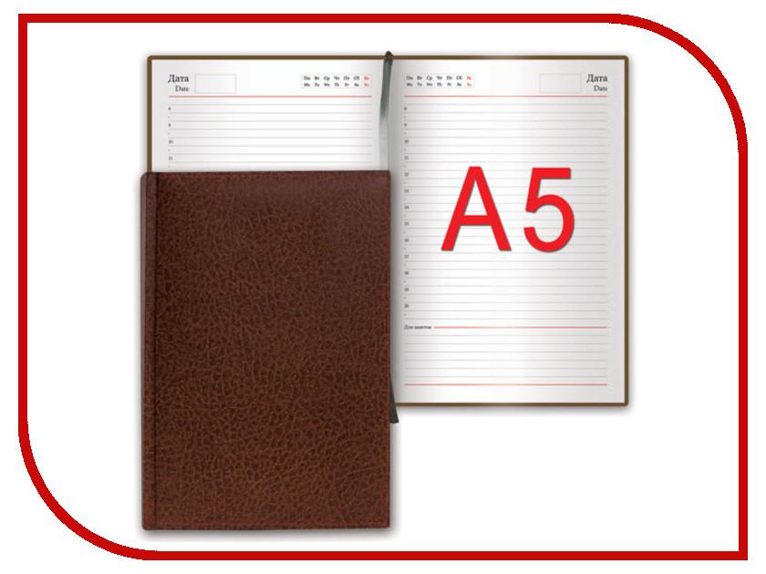 Ежедневник Brauberg Profile A5 138x213mm Brown 123428