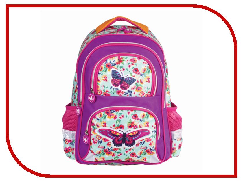 Рюкзак BRAUBERG Бабочка в цветах с EVA-спинкой 226894