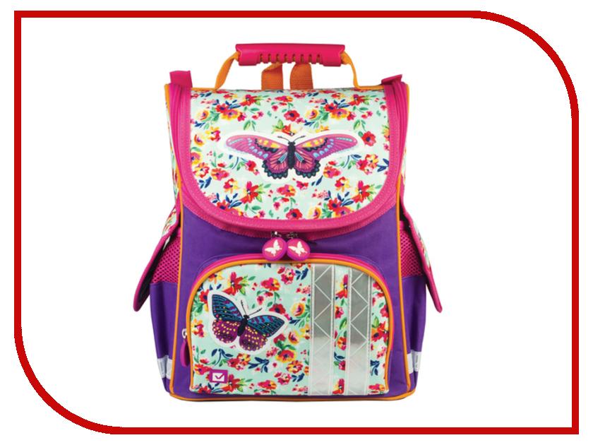 Рюкзак BRAUBERG Бабочка в цветах Жесткокаркасный 226907 brauberg purple pink 224156