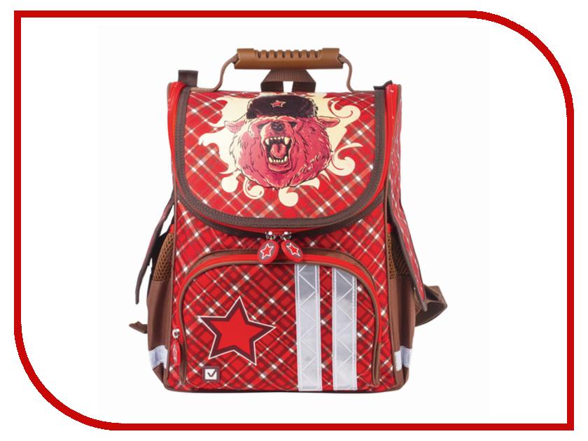 Рюкзак BRAUBERG Медведь Жесткокаркасный 226916 школьные рюкзаки brauberg рюкзак урбан экокожа