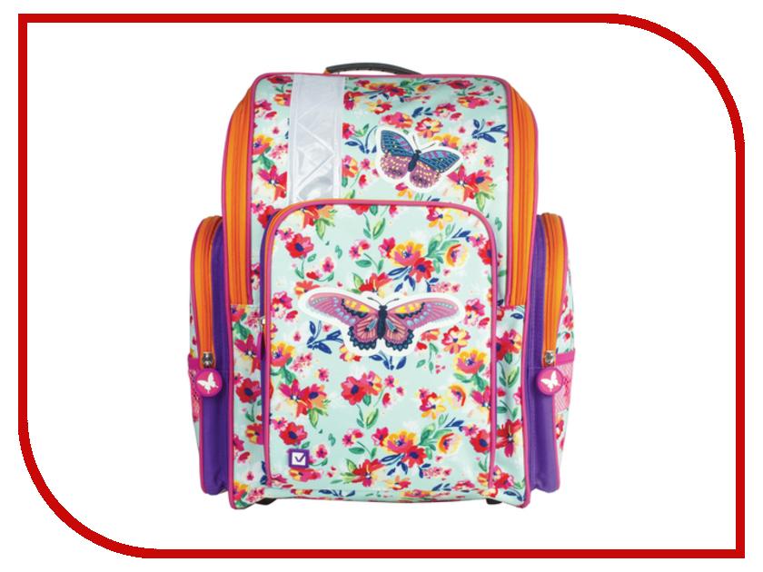 Рюкзак BRAUBERG Бабочка в цветах Жесткокаркасный 226918