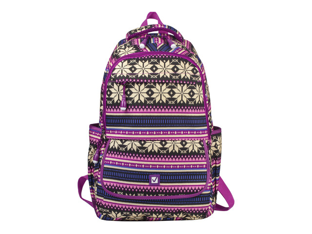 Рюкзак BRAUBERG Фиолетовые узоры 227069
