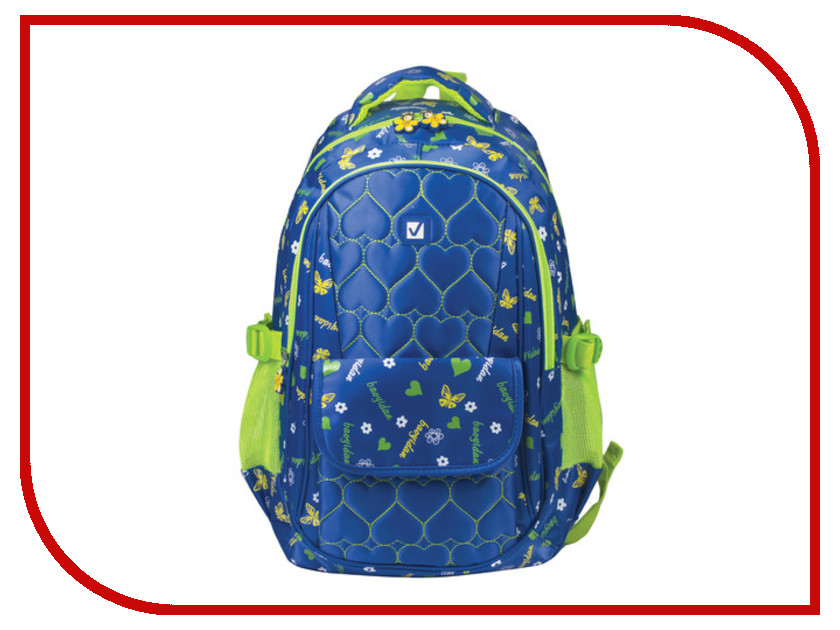 Рюкзак BRAUBERG Сердечки Blue 227073 brauberg brauberg рюкзак квадро искусственная кожа черный