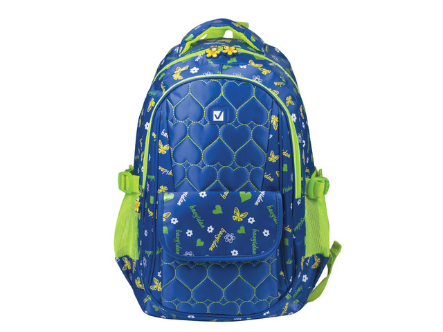 Рюкзак BRAUBERG Сердечки Blue 227073 цена